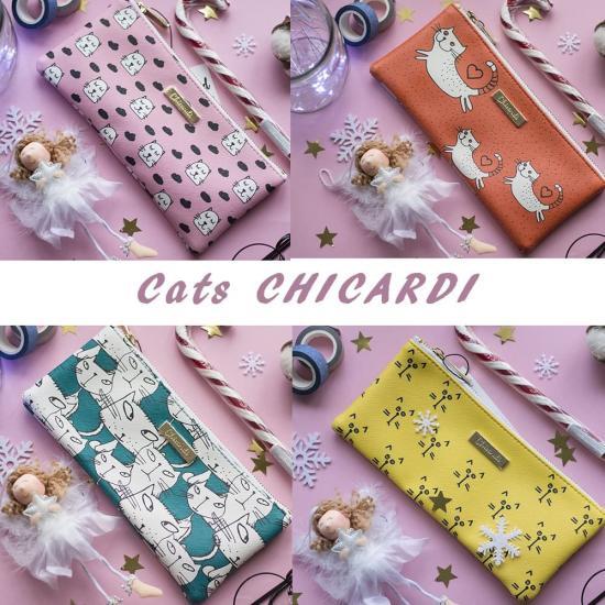 Пенал для ручек/косметичка CATS, CHICARDI
