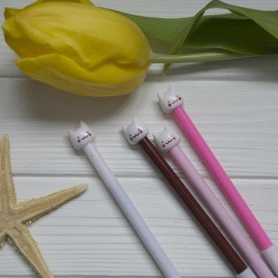 Гелевая ручка Котик Neko Pink