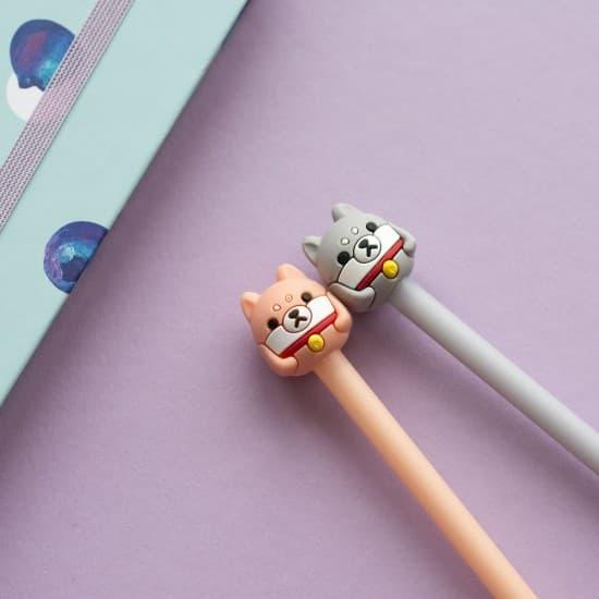 Ручка собака Shiba Inu, гелевая