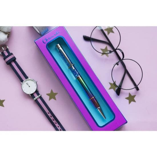 Подарочная ручка шариковая с глиттером CHICARDI, RAINBOW