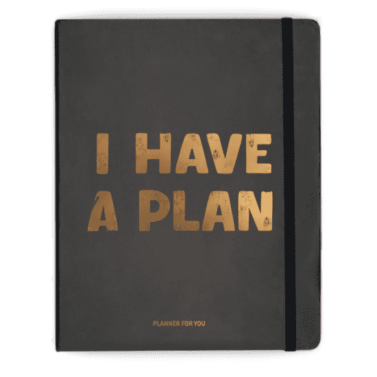 Планер «I have a plan» чёрный, не датированный