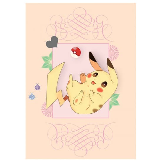 Авторский плакат Pikachu А3
