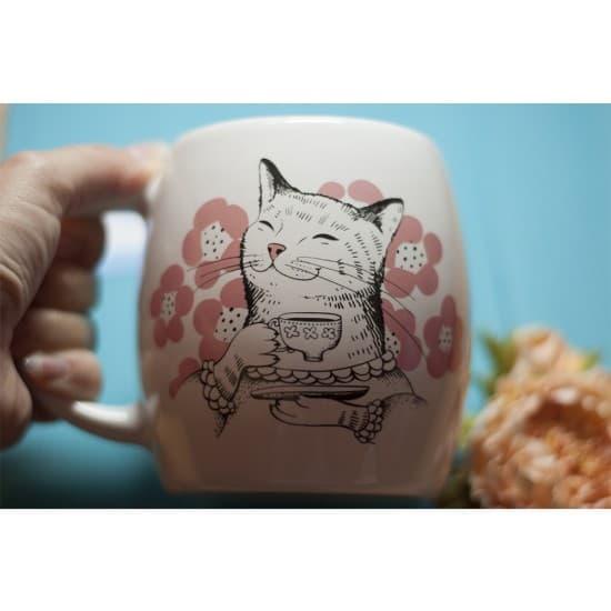 Оригинальная чашка Tea Time with a Cat