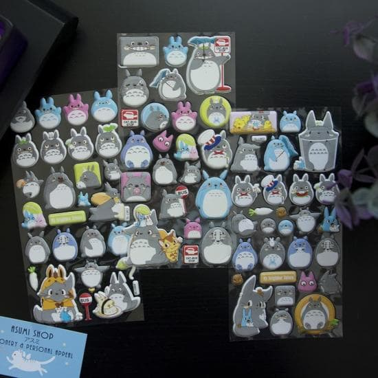 "Лист наклеек для ежедневника ""Totoro 3D"""