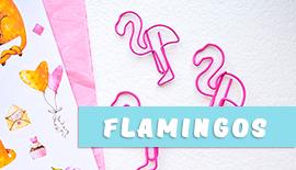 Купить милые вещи и канцелярию с фламинго