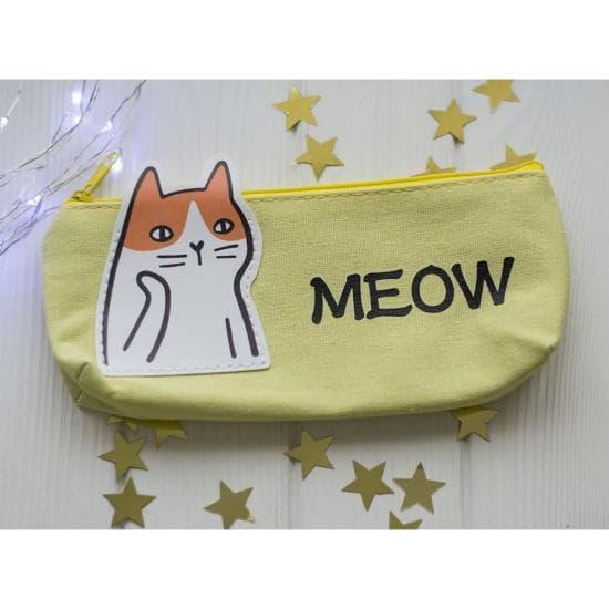 Пенал для ручек Meow, тканевый