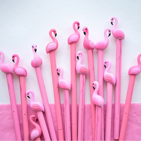 Ручка Фламинго, гелевая