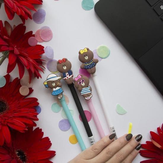 Гелевая ручка мишка Brown