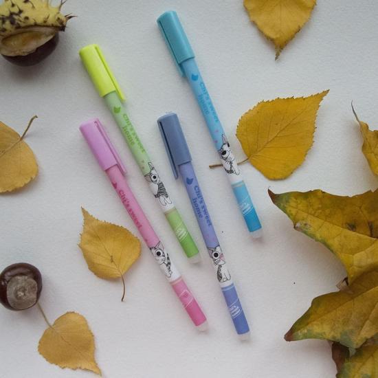 Гелевая ручка с ластиком Neko Chii