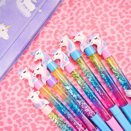 Ручка Единорог с блестками