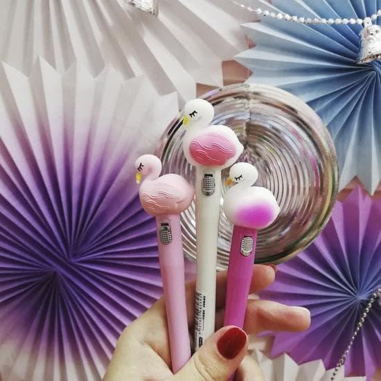 Ручка Фламинго, светящаяся