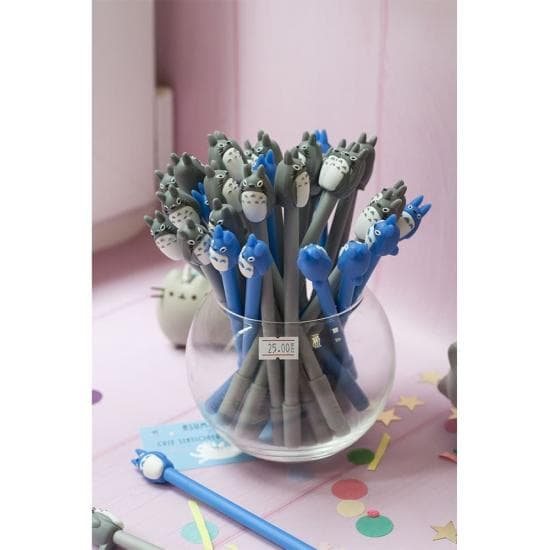 Ручка гелевая Totoro Grey&Blue v4