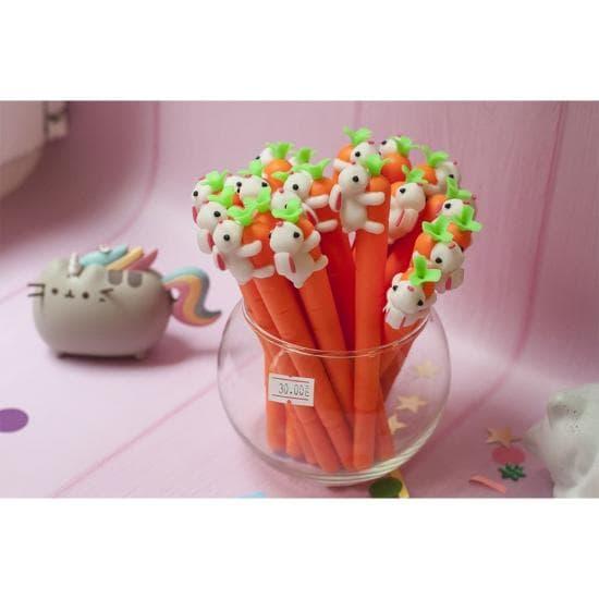 Ручка Морковка и Кролик, гелевая