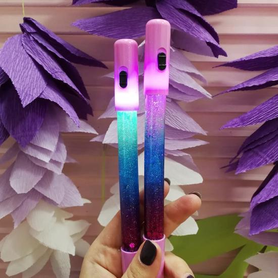 """Ручка с глиттером """"Glow"""", LED"""