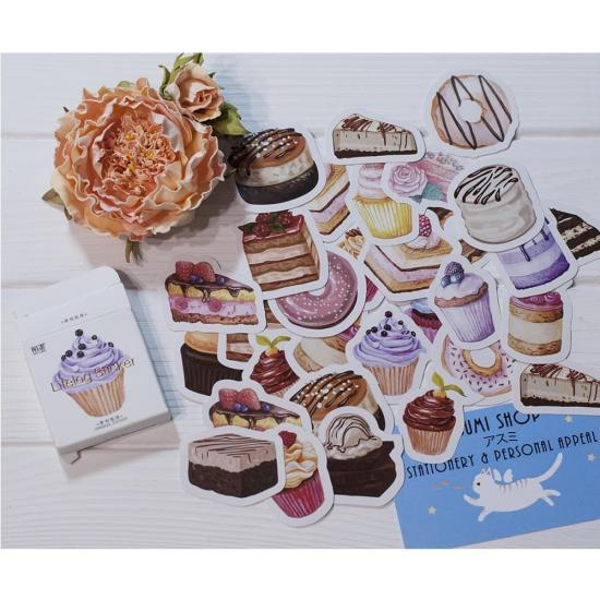 Оригинальные наклейки для дневника Cakes (50 шт)