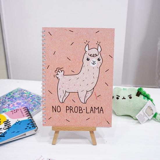 """Блокнот в клетку """"No prob-lama"""""""