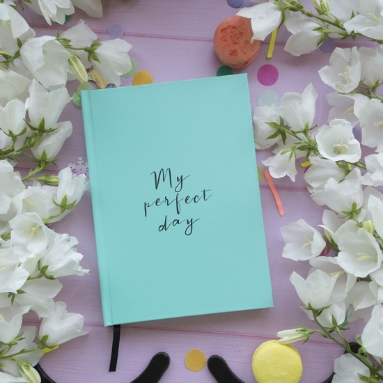 "Дневник Diary ""My perfect day"" бирюза"