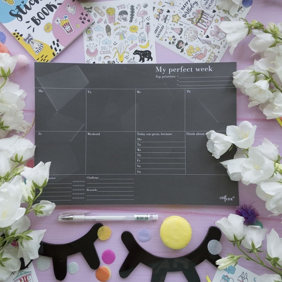 Еженедельник Weekly Planner Total Black + ручка