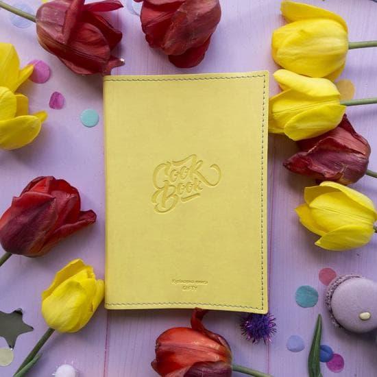 Книга для записи рецептов (желтая)