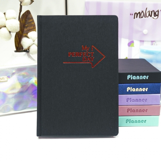"""Planner """"My perfect day"""" red on black UA"""