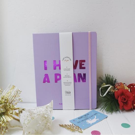 Планер «I have a plan» фиолетовый, не датированный
