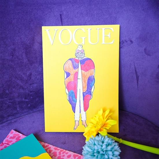 """Блокнот в точку """"Vouge"""" желтый"""