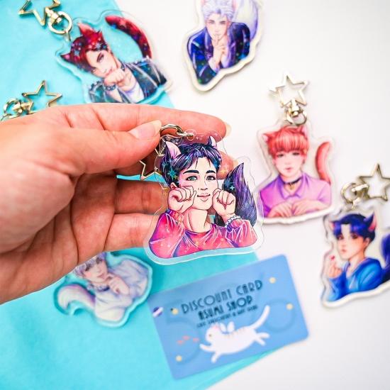 Акриловые брелоки BTS Jin