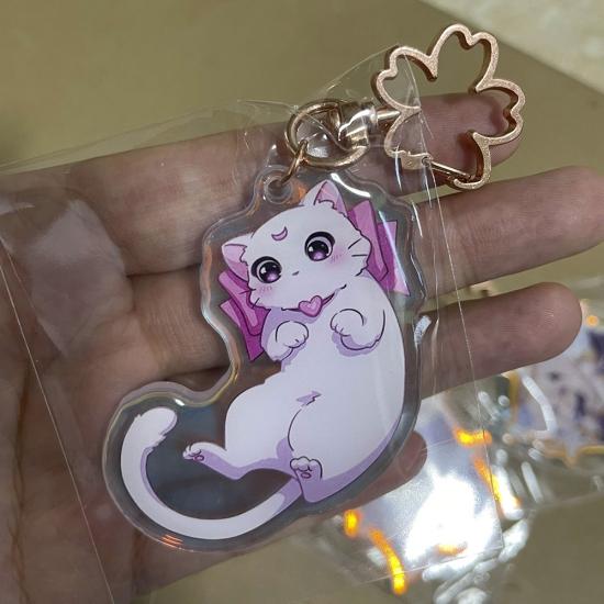 Брелок акриловый Cat от Lisa Cloud