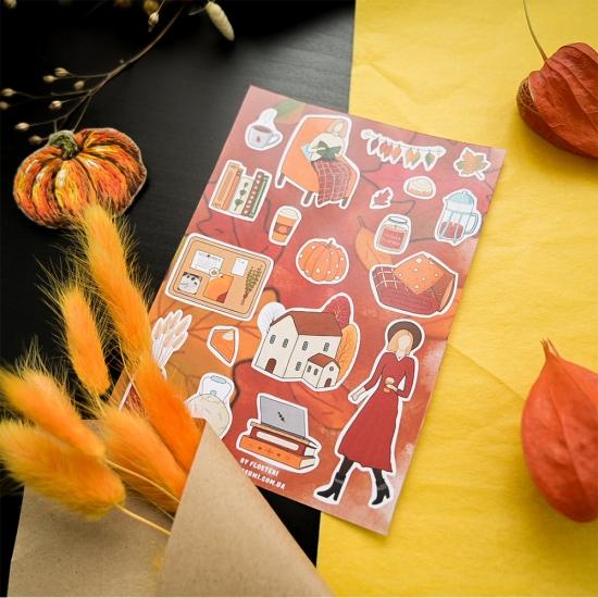 "Наклейки ""Осень"", Flosteri by asumi"