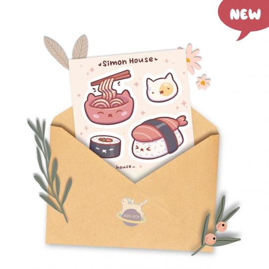 """Наклейки """"Японская еда"""", Simon's House"""