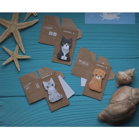 Стикеры - закладки Cat in the Box