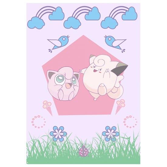 Авторский плакат Jigglypuff&Clefairy А3