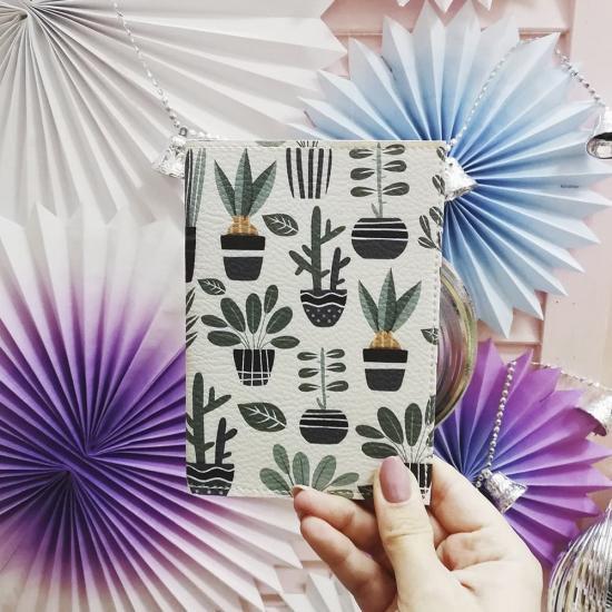 """Обложка на паспорт """"Cactus"""""""