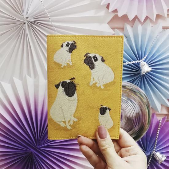 """Обложка на паспорт """"Pug"""""""
