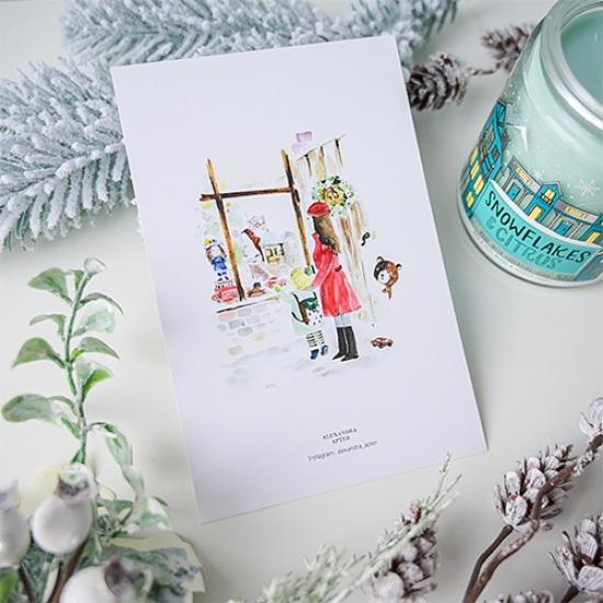Открытка Новогодние витрины, Alexandra Apter