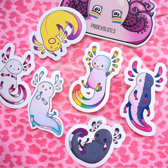 "Наклейки ""Axolotls Pride"", Octeeo"