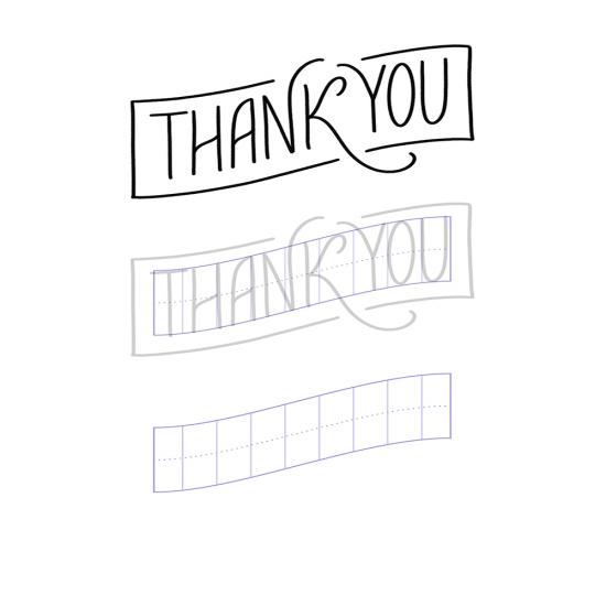 Шаблон для леттеринга - 10 способов написать Thank you