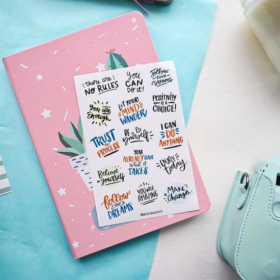 Наклейки Мотивационные, All Sticker Print