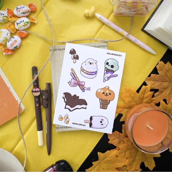 """Наклейки """"Хэллоуин"""", Asumi"""