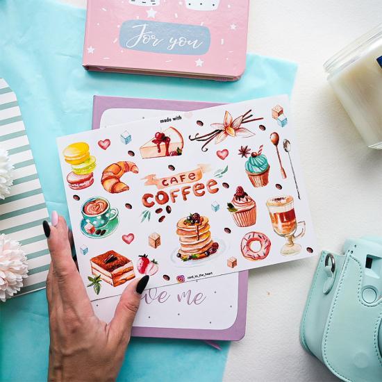 """Наклейки """"Coffee"""", Card to the Heart"""