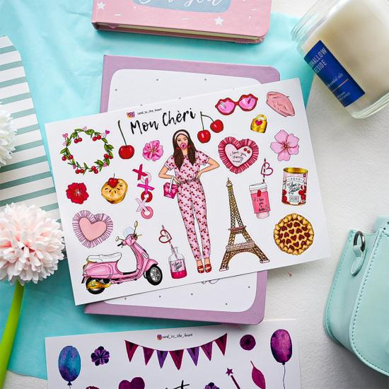 "Наклейки ""Mon Cheri"", Card to the Heart"