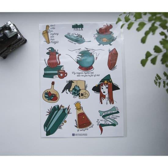 "Лист наклеек для ежедневника ""Magic"", StickerPicker"
