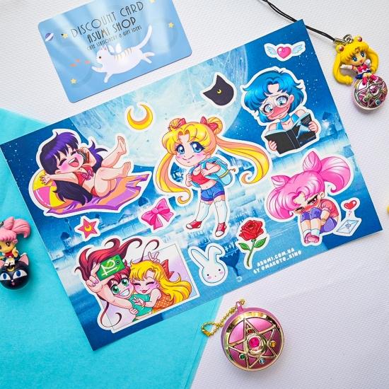 Виниловые наклейки Sailor Moon