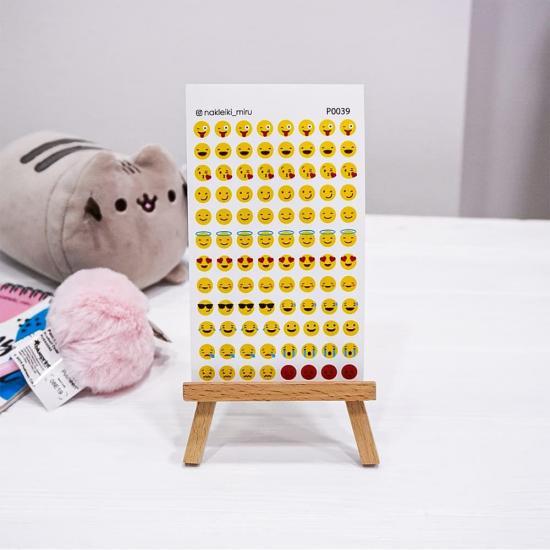 "Лист наклеек для ежедневника ""Emoji"", Miru"