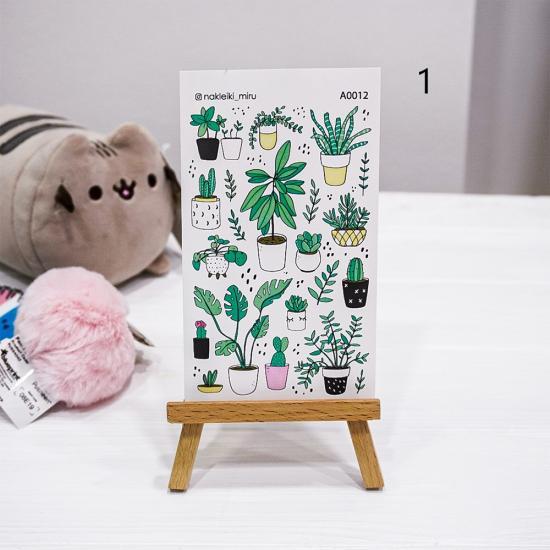 "Лист наклеек ""Succulents"", Miru"