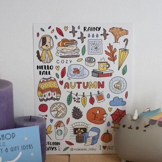 """Набор наклеек """"Autumn"""", Miru"""