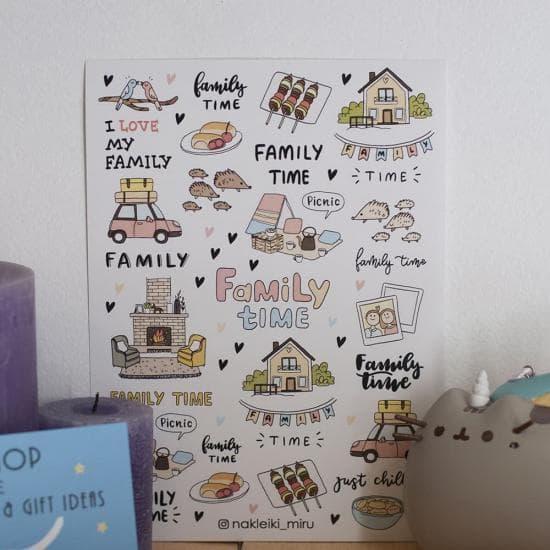 "Набор наклеек ""Family Time"", Miru"