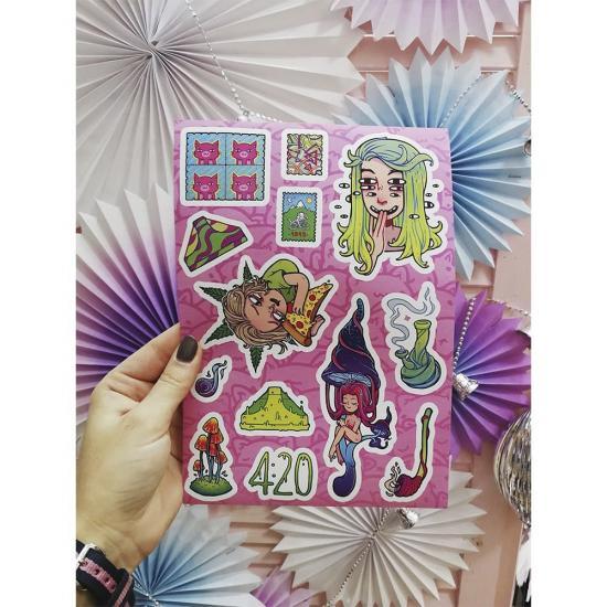 """Наклейки """"420"""", Asinastra"""