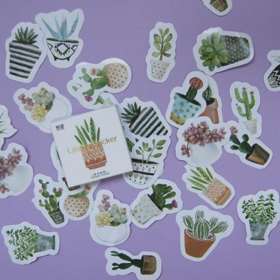Наклейки для ежедневника Cactus (45 шт)