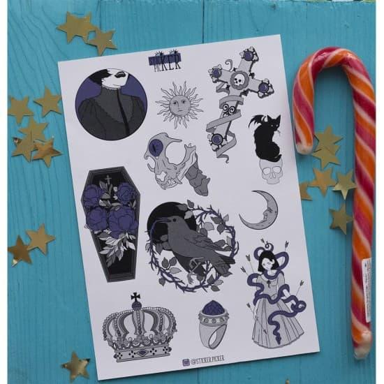 "Наклейки для ежедневника ""Gothic"", StickerPicker"